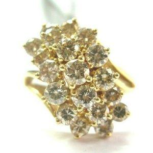 Jewelry - Fine Fancy Brown Round Brilliant Diamond Cluster Y